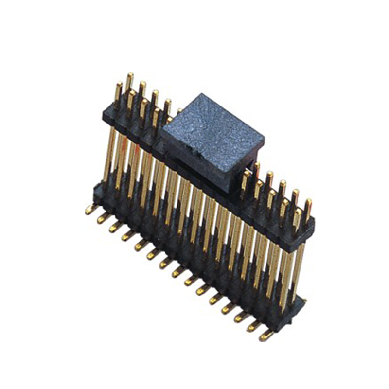 1.27mm Pin Header H=1.0 Double Row Stack Plastic SMT Type