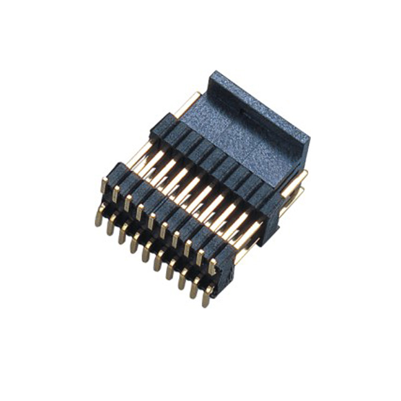 1.27*2.54mm Pin Header H=2.5 Double Row Stack Plastic SMT Type