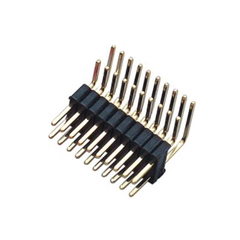 1.27*2.54mm Pin Header H=2.5 Double Row Right Angle Type