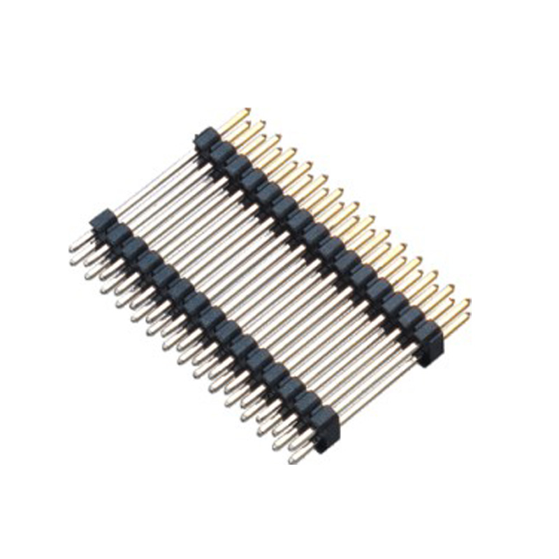 2.0mm Pin Header H=2.0 Double Row Stack Plastic Straight Type