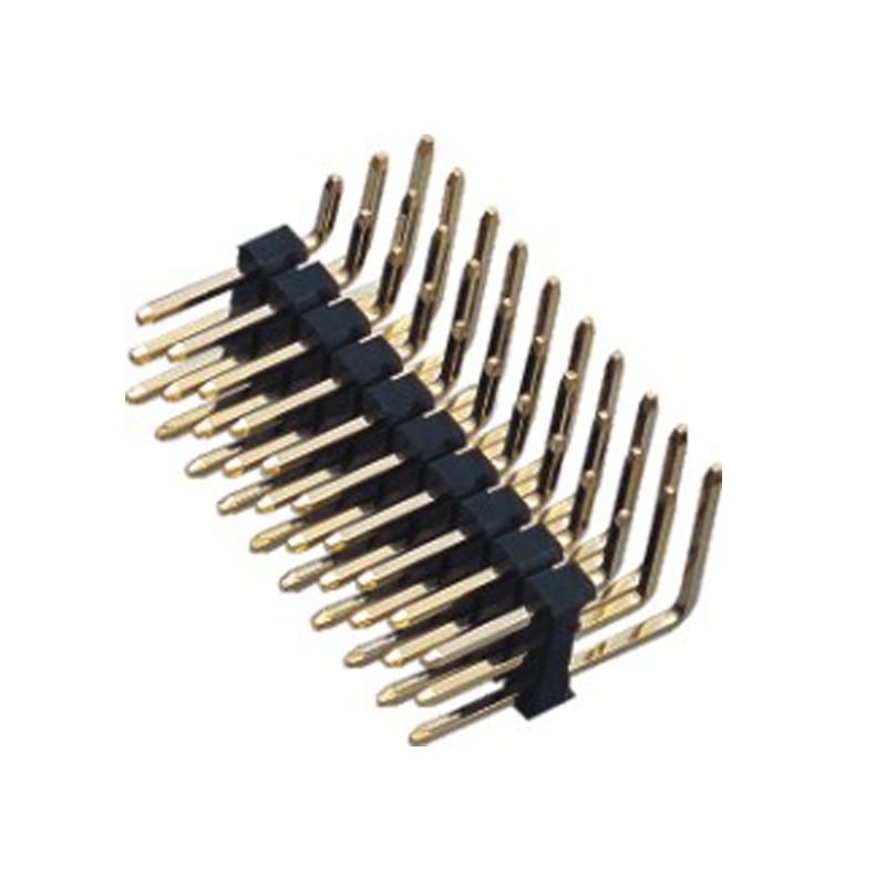 2.54mm Pin Header H=2.5 3 Row Right Angle Type