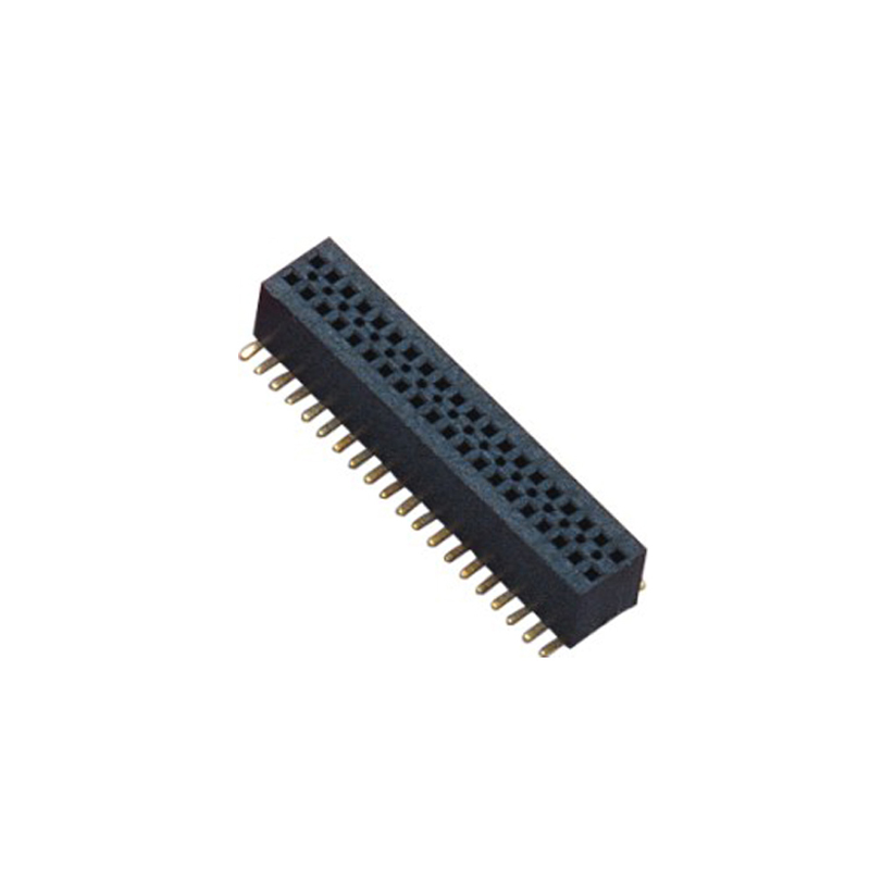0.8mm Female Header H=3.1 Double Row SMT Type