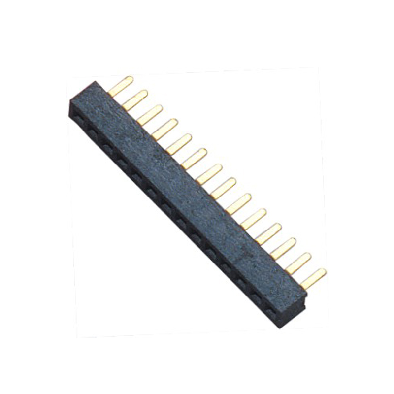 1.27mm Female Header H=2.1 Single Row Straight Type