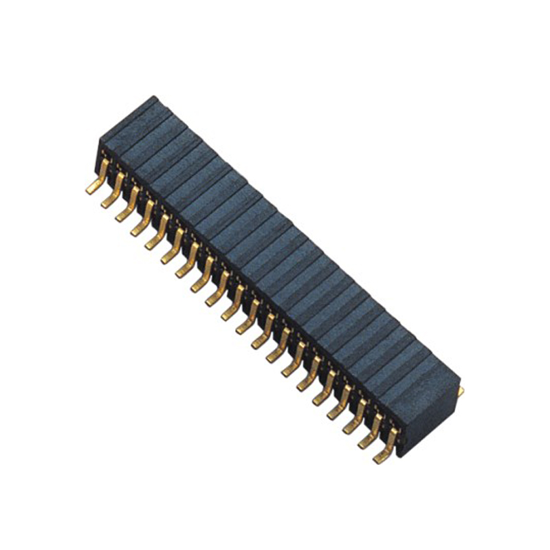 1.27mm Female Header H=3.5 Double Row SMT Type Side Entry Type