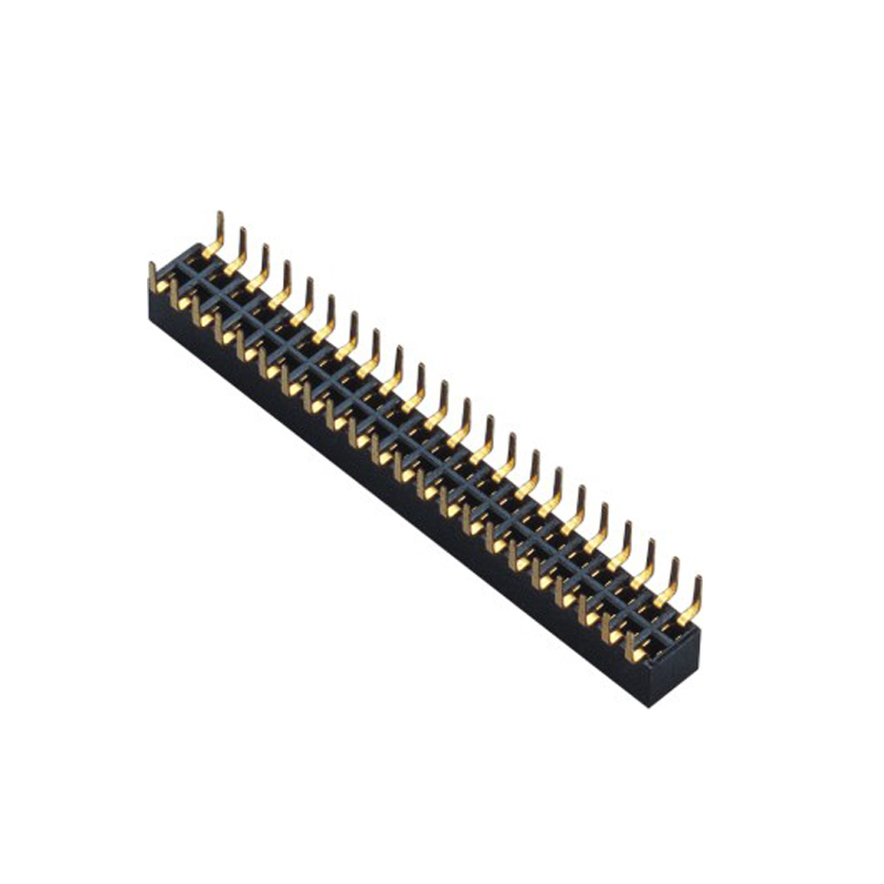 2.0mm Female Header H=4.3 Double Row Centipede Foot Type