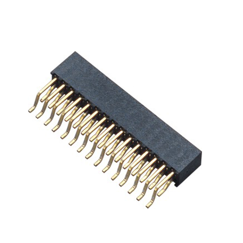 2.0mm Female Header H=6.3  Double Row Right Angle Type