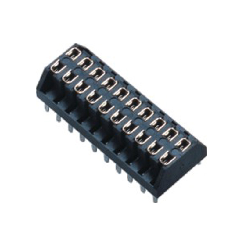 2.54mm Female Header H=5.0 Double Row Centipede Foot Type Top Entry Type