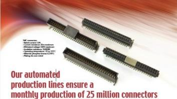 Our automated production lines ensure a monthly production of  25 million connectors