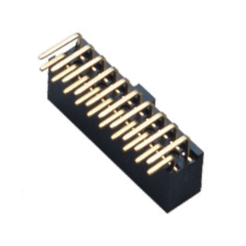 2.54mm Female header H=8.5 Double Row Right Angle Type