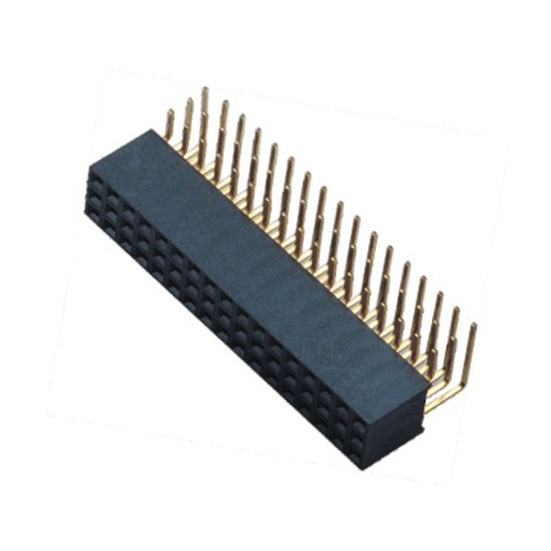 2.54mm Female header H=8.5  3 Row Right Angle Type