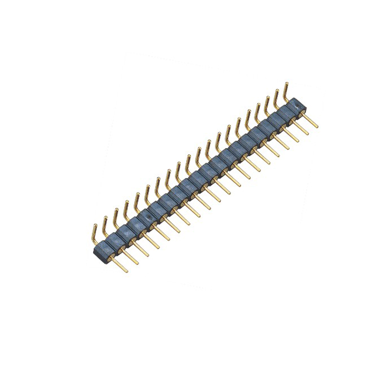 2.54mm Machined Pin Header H=3.0 Single Row  Right Angle Type