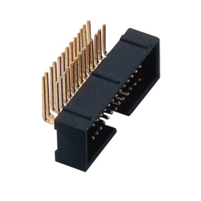 1.27*2.54mm Box Header H=5.6 Right Angle Type