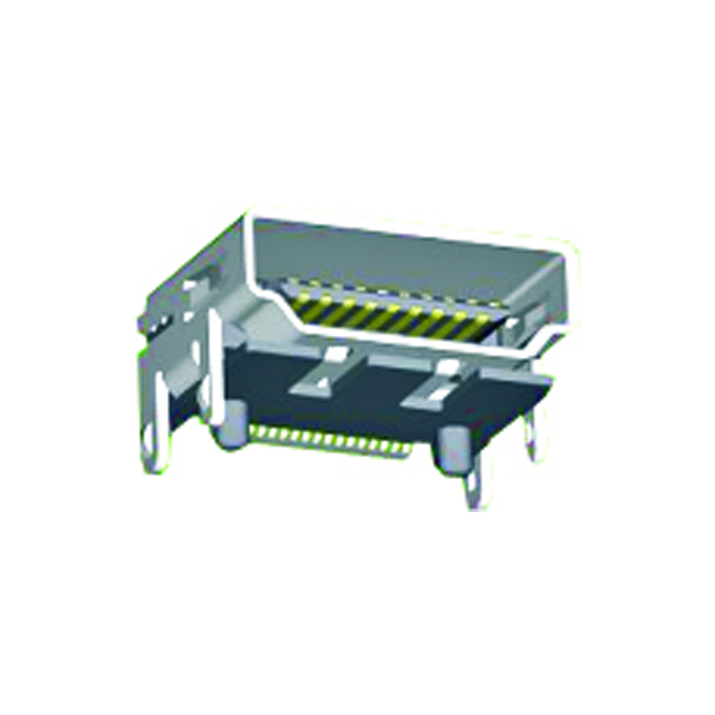 19Pin HDMI SMT Type DIP With Screw Eye With Post