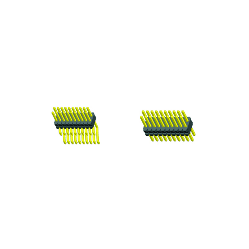 0.8mm Pin Header H=1.4 Double Row Right Angle SMT Type