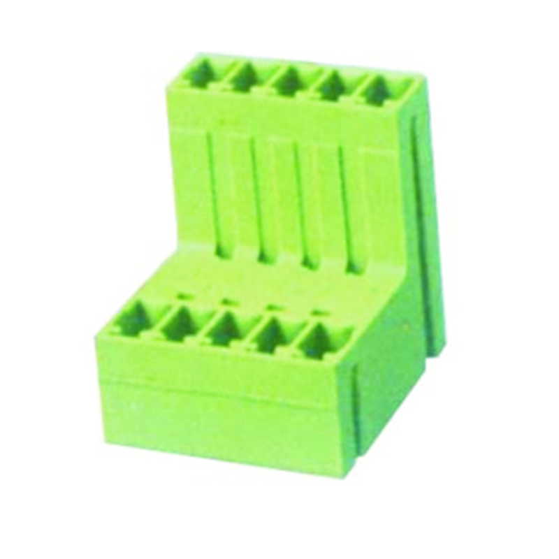 3.50mm Pluggable Terminal Blocks Male Straight Type With Double Stagger Tier