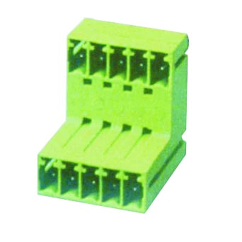 3.50mm Pluggable Terminal Blocks Male Right Angle Type With Double Stagger Tier