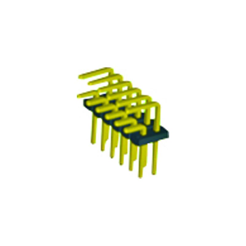 4.2mm Pin Header H=2.5 Double Row Right Angle Type