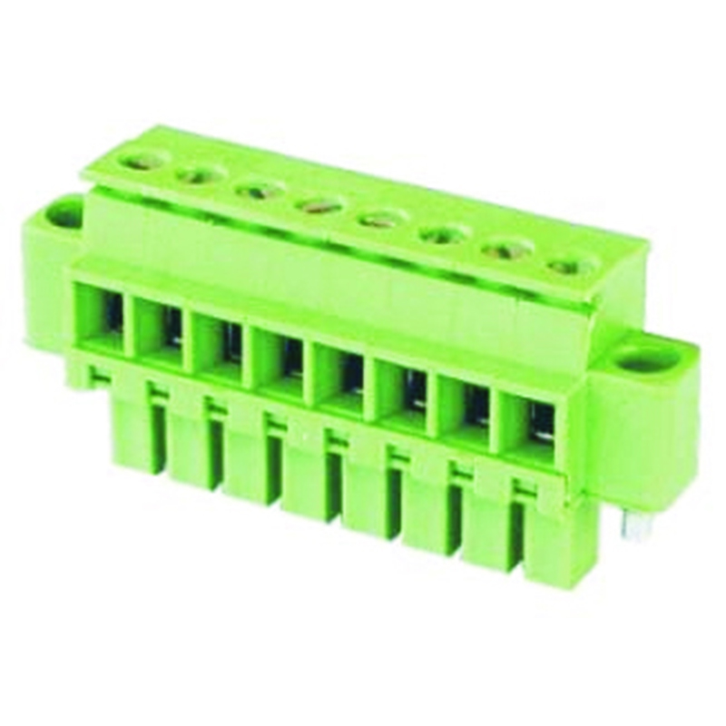 3.50mm Pluggable Terminal Blocks Female Horizontal Type Opposite With Ear