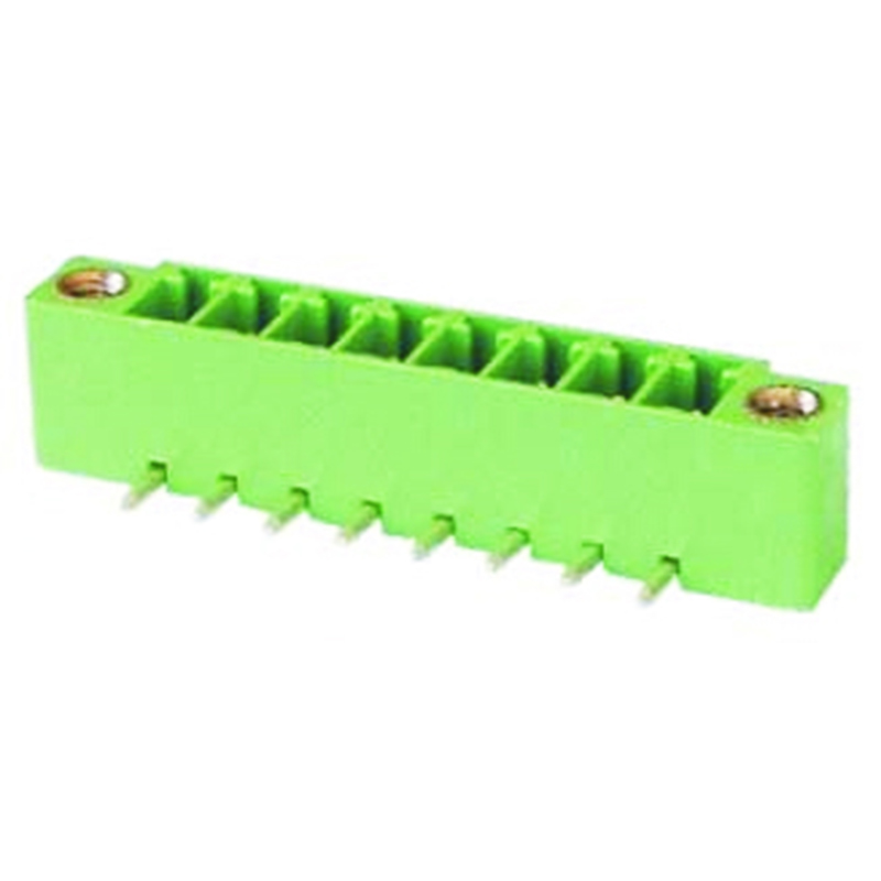 3.81mm Pluggable Terminal Blocks Male Right Angle Type With Flange
