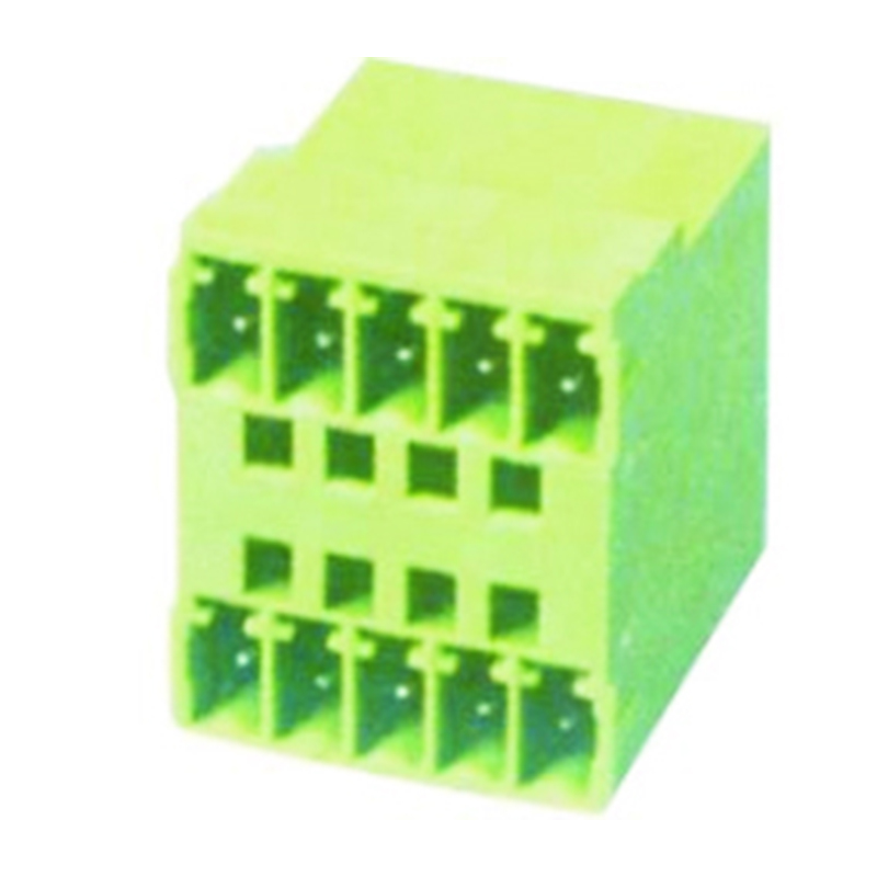 3.81mm Pluggable Terminal Blocks Male Dual Row Right Angle Type
