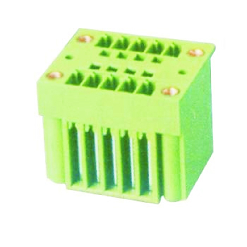 3.81mm Pluggable Terminal Blocks Male Dual Row Straight Type With Flange