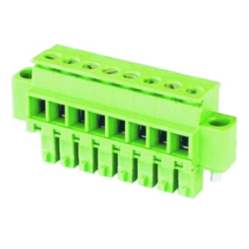 3.81mm Pluggable Terminal Blocks Female Horizontal Cable Entry With Flanges