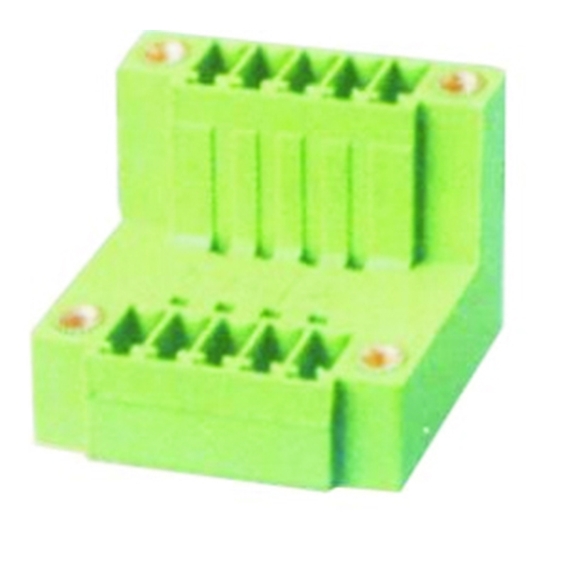 3.81mm Pluggable Terminal Blocks Male Double Level Vertical With Flanges