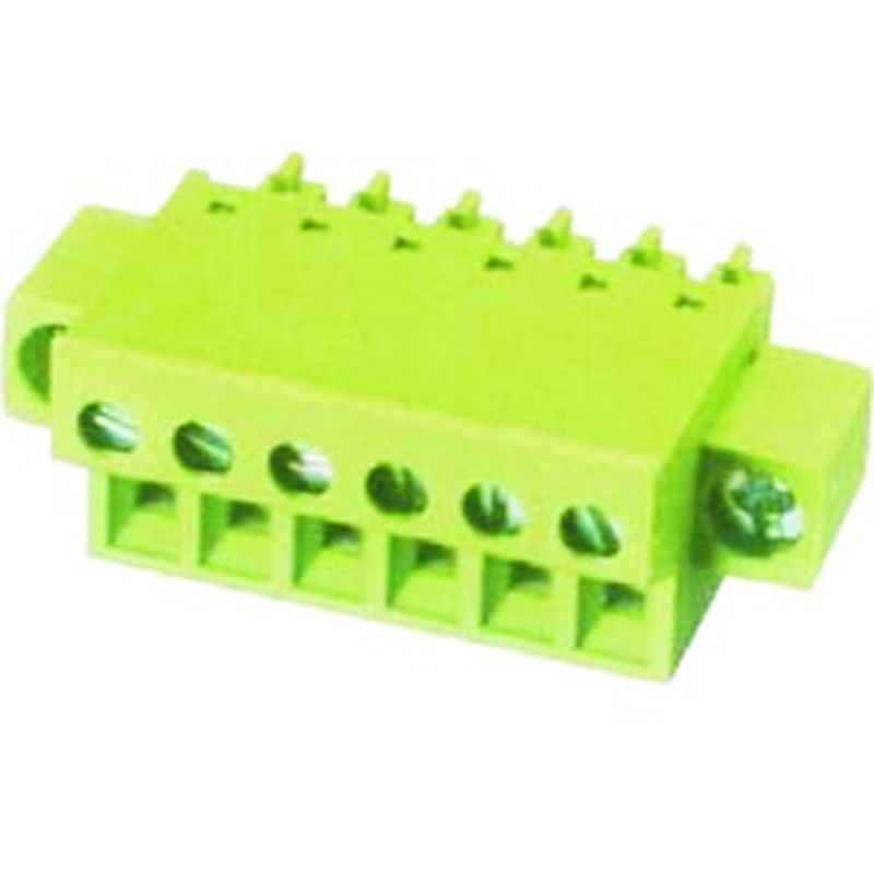 3.81mm Pluggable Terminal Blocks Female Vertical Cable Entry With Flanges