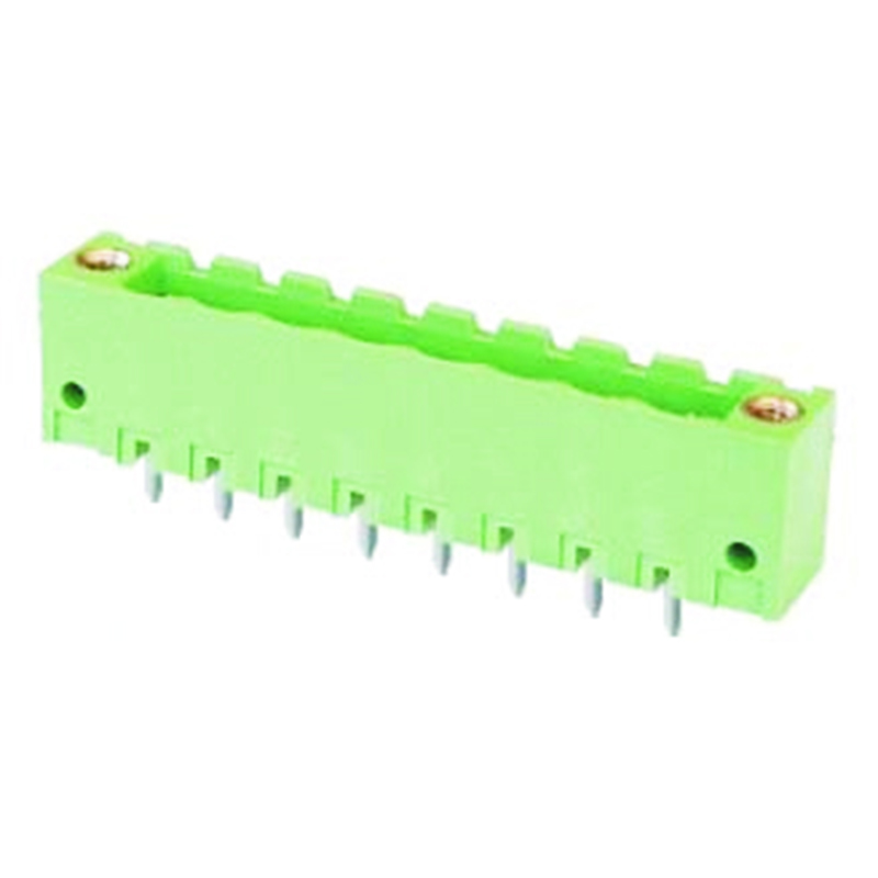 5.08mm Pluggable Terminal Blocks Straight Type Closed vertical With Flanges