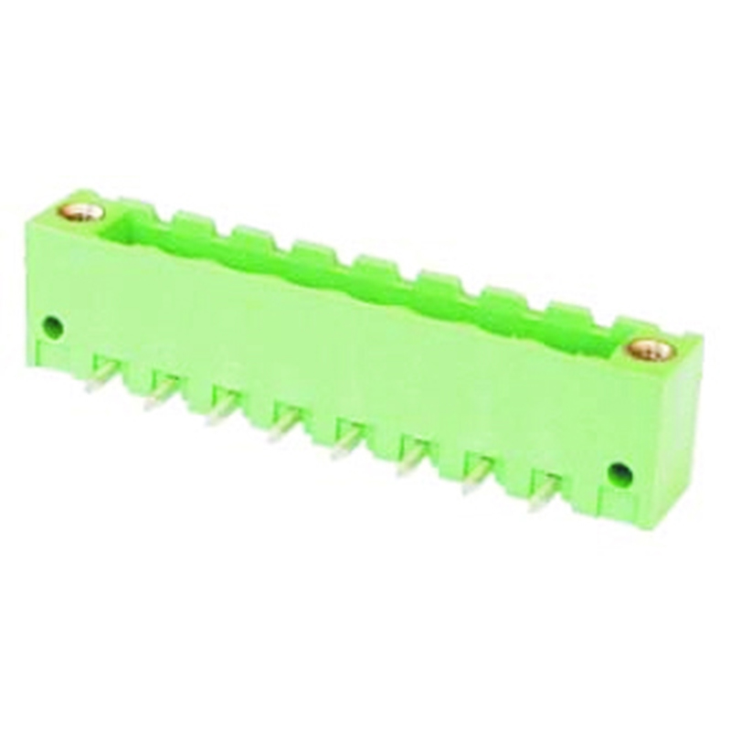 5.08mm Pluggable Terminal Blocks Right Angle Type Closed Horizontal With Flanges