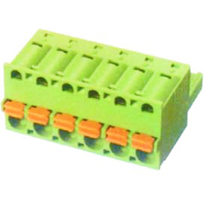 5.08mm Spring Plugs For Pluggable Terminal Blocks Female Without Flange