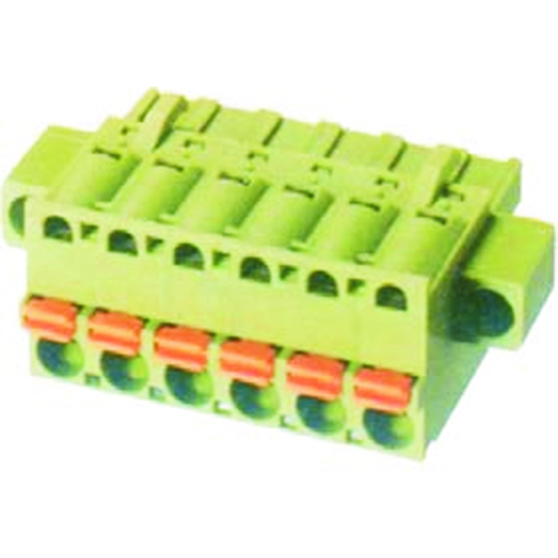 5.08mm Spring Plugs For Pluggable Terminal Blocks Female With Flange