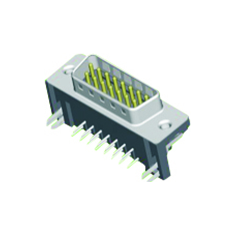 D-SUB Male Right Angle Type 10.4mm Footprint
