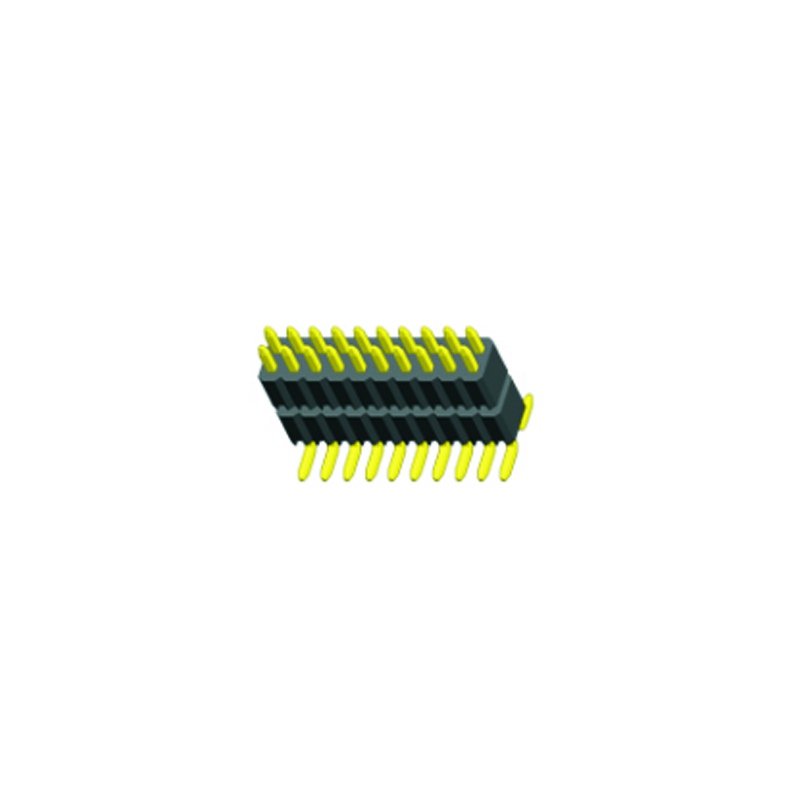 1.27mm Pin Header H=2.5 Double Row SMT Type
