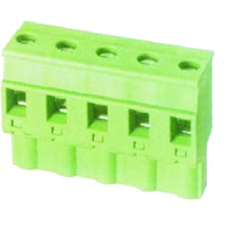 7.62mm Pluggable Terminal Blocks Female Without  Flange horizontal opposite direction line