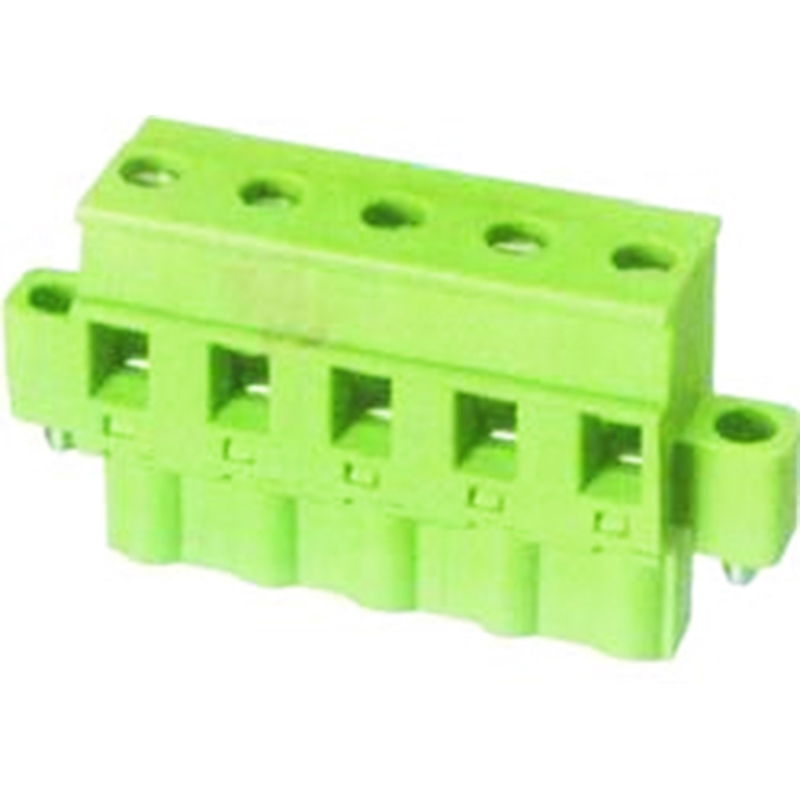7.62mm Pluggable Terminal Blocks Female With Flange horizontal opposite direction line