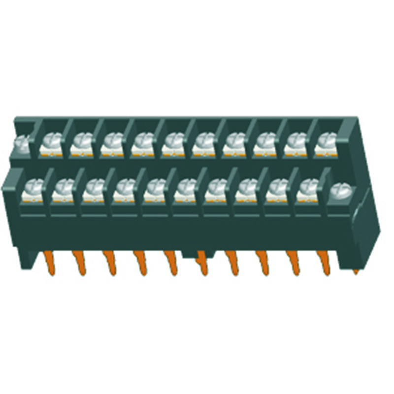 7.62*8.0mm Barrier Terminal Block H=28.0  W/ithout Lock Type