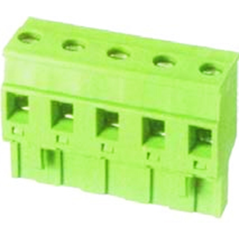 7.62mm Pluggable Terminal Blocks Female Without Flange horizontal forward direction line