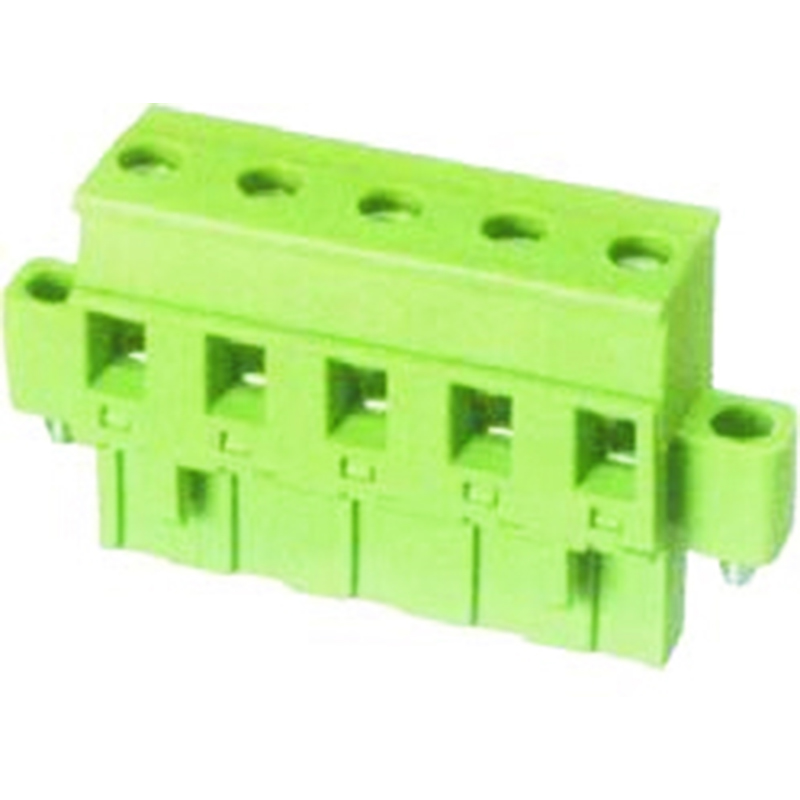7.62mm Pluggable Terminal Blocks Female With Flange horizontal forward direction line