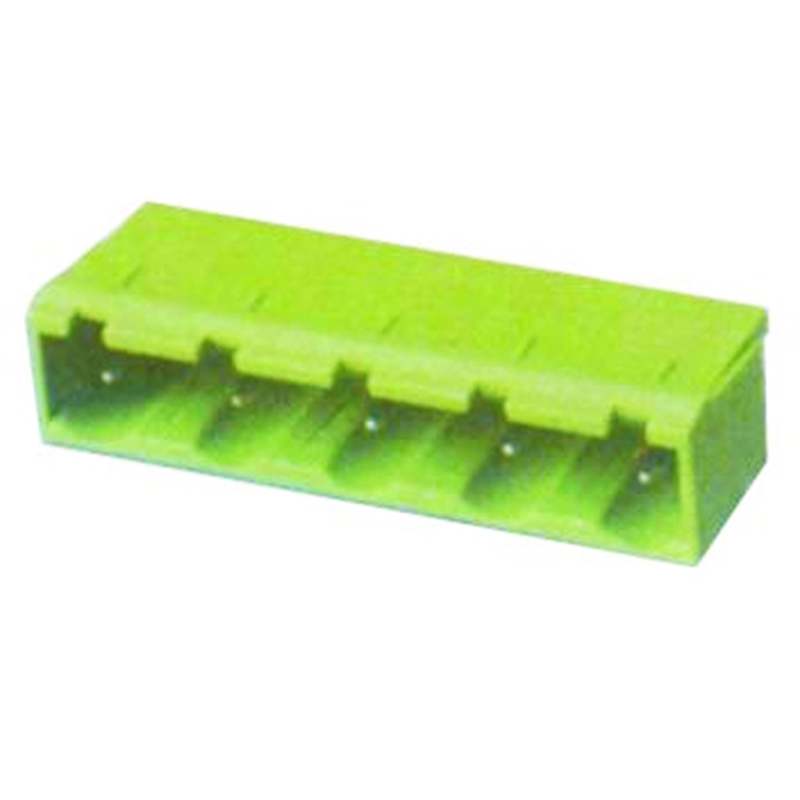 7.62mm Pluggable Terminal Blocks Male Right Angle Type Without Flange