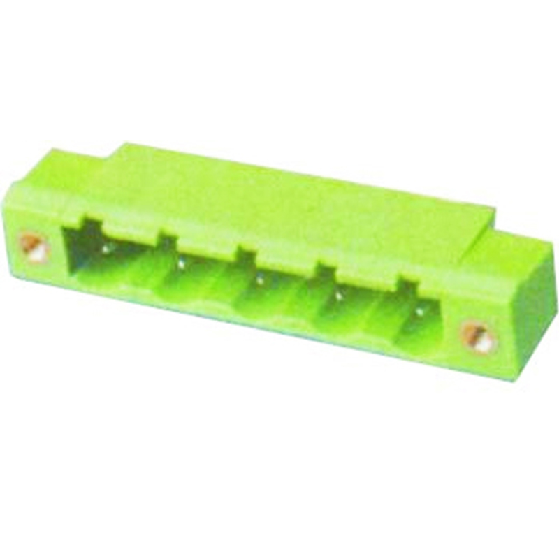 7.62mm Pluggable Terminal Blocks Male Right Angle Type With Flange
