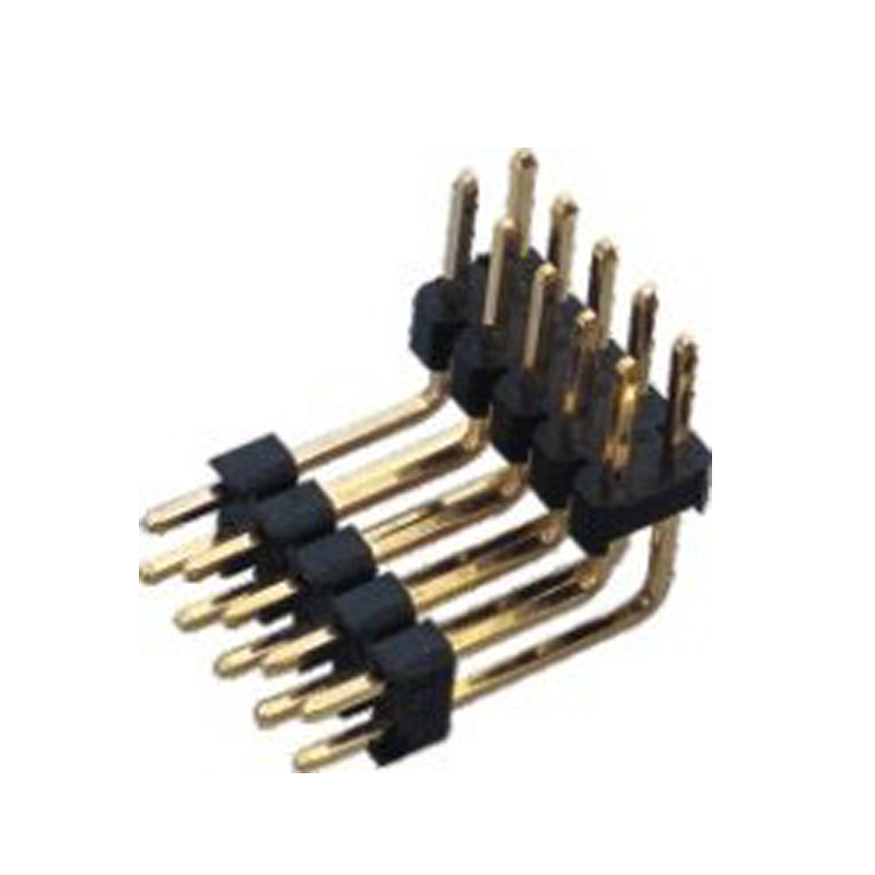 2.54mm Pin Header H=2.5 Double Row Right Angle Type