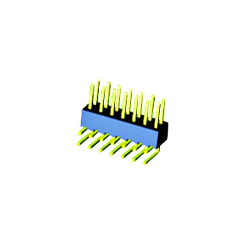 2.54mm Pin Header H=4.3 Double Row Right Angle Type