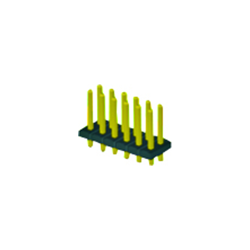 4.2mm Pin Header H=2.5 Double Row Straight Type
