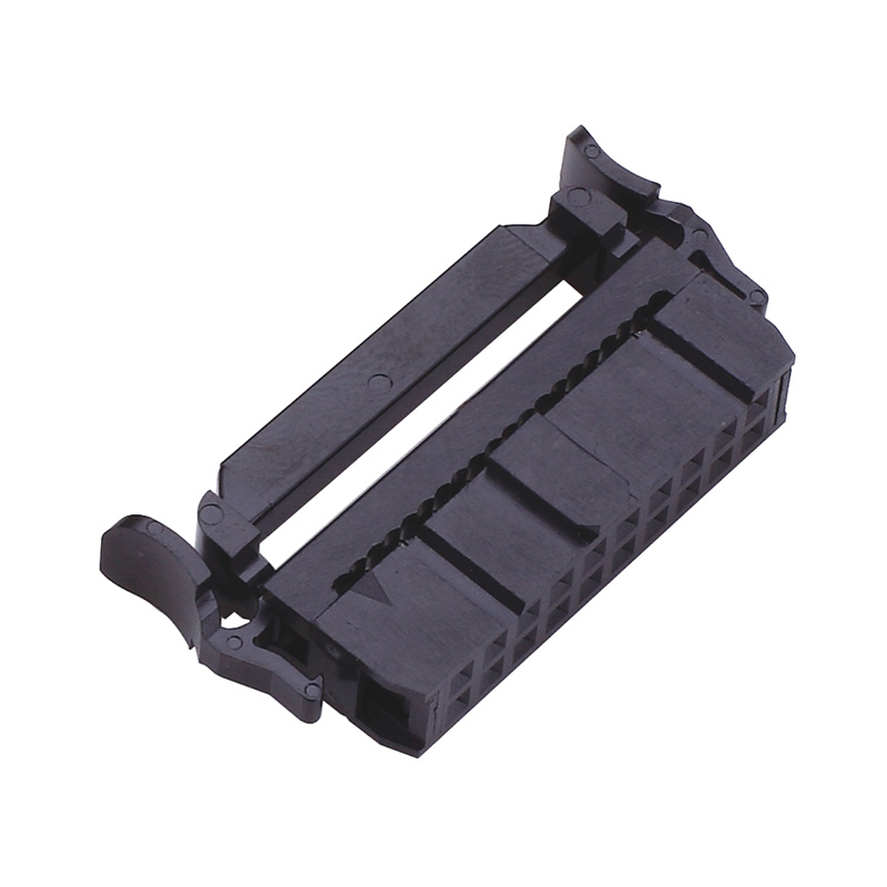 2.54mm IDC Connector With Bump, Without SR, Black
