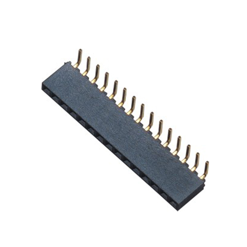 2.0mm Female Header H=2.0 Single Row Right Angle Type