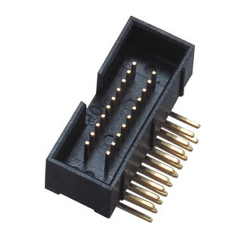 1.27*2.54mm  box Header H=15.3 Right Angle t Type