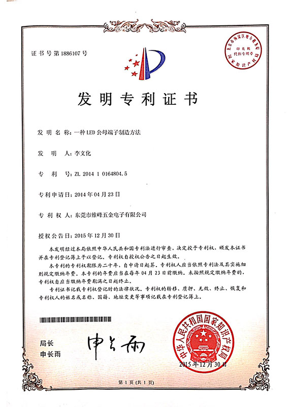 Our Patent