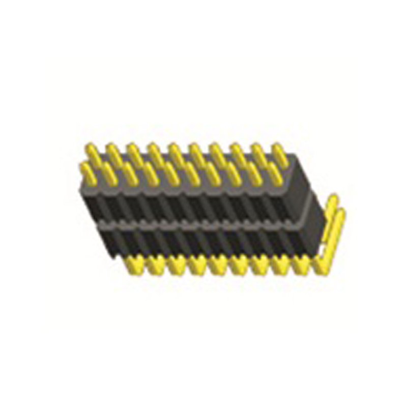 1.27mm Pin Header H=2.5 Double Row Right Angle Type
