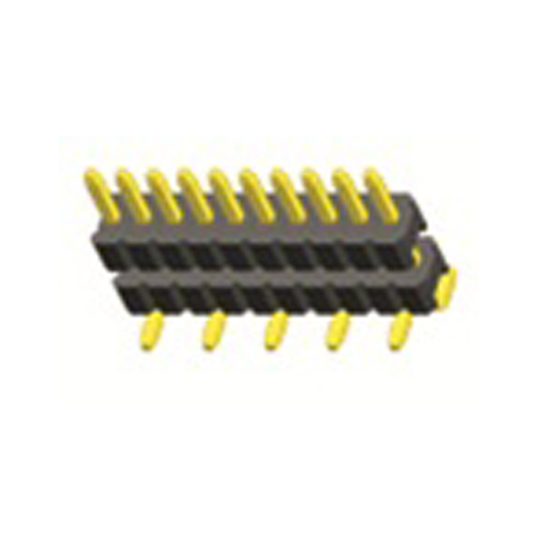 1.27mm Pin Header H=1.0 Dual body Single Row SMT Type